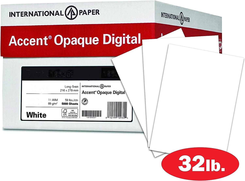Accent blickdicht, glatte Warm Weiß 32lb 36,3 kg schweren, 12 x 18,1,600 Blatt 4 Ries Fall, hergestellt in den USA B06X6NPCJQ  | Hohe Qualität und günstig