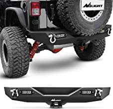 Nilight JK-52A 07-18 Rear Compatible for 2007-2018 Jeep Wrangler JK,Rock Crawler Bumper with Hitch Receiver & 2X Upgraded 40W LED Lights Off Road Textured Black,2 Years Warranty