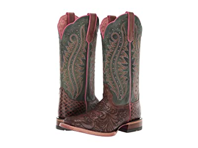 Ariat Montage (Lasered Floral Brown/Ultramarine Green) Cowboy Boots