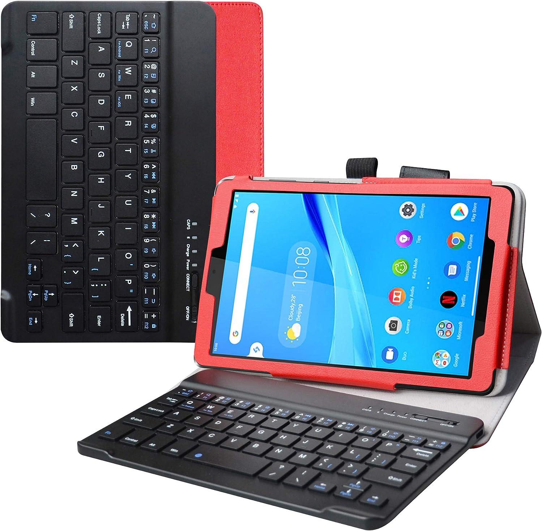 Labanema Lenovo Tab M8 FHD Teclado Funda, PU Estuche con ...