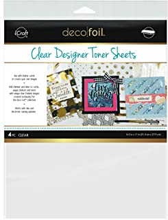 THERMOWEB Deco Foil Clear Printable (4 Sheets per Pack), one size