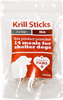 Project Paws Krill Sticks - Krill Oil for Dogs - Omega 3 for Dogs for Skin and Coat and Relief from Allergies and Itching Skin - Phospholipid Bound Omegas with Astaxanthin