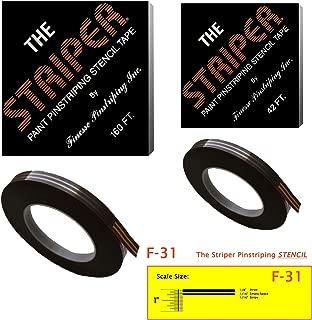 The Striper Paint Pinstriping Stencil Tape - Pinstripe Your Car/Truck   Striper: F-31   Results: 1/8
