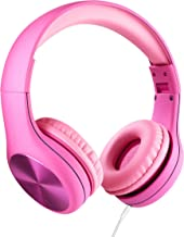 New! LilGadgets Connect+ PRO Kids Premium Volume Limited Wired Headphones with SharePort (Children) - Pink