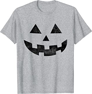 Vintage Jack O Lantern Pumpkin Face Halloween Costume Top T-Shirt