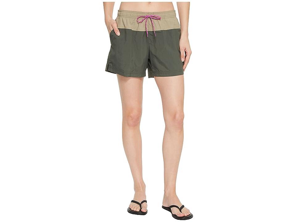 Columbia Sandy Rivertm Color Blocked Shorts (Gravel/Tusk/Bright Lavender) Women