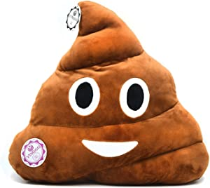 YINGGG 32cm Poop Plush Pillow Round Triangle Emotion Cushion Cute Decorative Stuffed Toy Brown Gifts for Kids and Friends