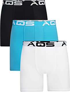 aqs Men's Boxer Briefs - 3 Pack