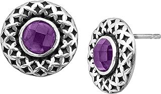 square amethyst earrings