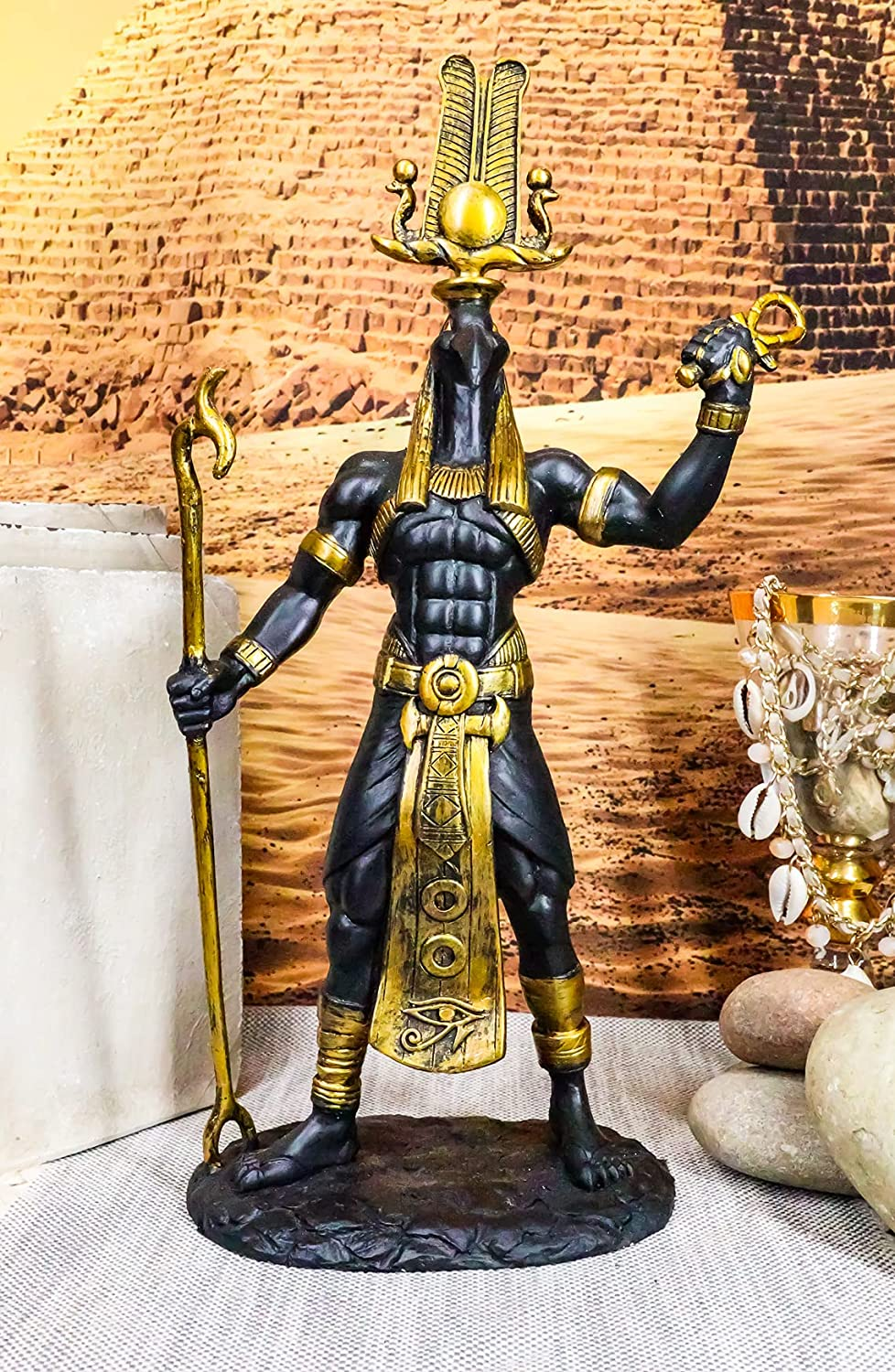 Direct sale of manufacturer Ebros Egyptian God Ibis Headed Thoth Statue and Spring new work Ankh Holding was