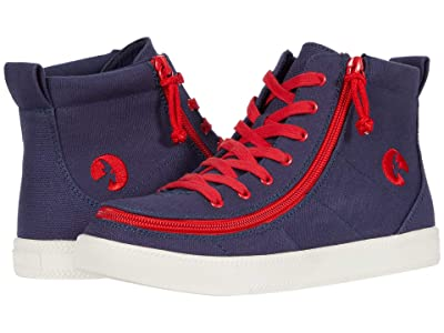 BILLY Footwear Kids Classic Lace High (Little Kid/Big Kid) (Navy/Red) Boy