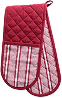 DII Cotton Stripe Quilted Double Oven Mitt, 35 x 7.5