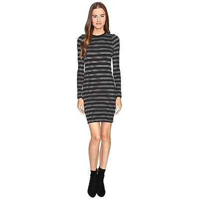 ATM Anthony Thomas Melillo Engineered Stripe Dress (Black/White Stripe) Women