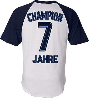 Geburtstags Shirt: Champion 7 Jahre - Sport Fussball Trikot Junge T-Shirt für Jungen - Geschenk-Idee zum 7. Geburtstag - Sieben Siebter Jahrgang 2014 - Fußball Club Fan Stadion Mannschaft