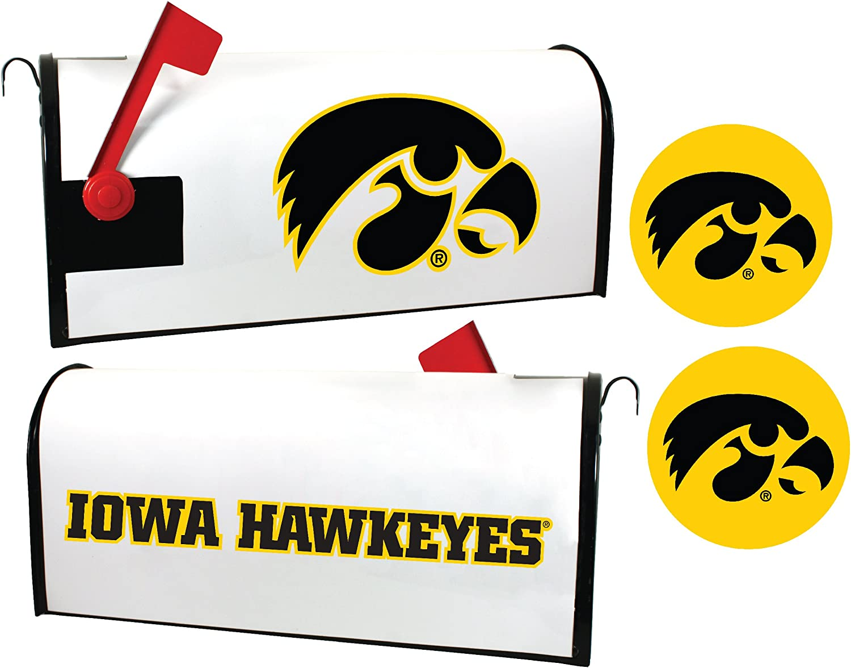 Iowa Weekly update Hawkeyes Magnetic Genuine Mailbox Sticker Cover Set