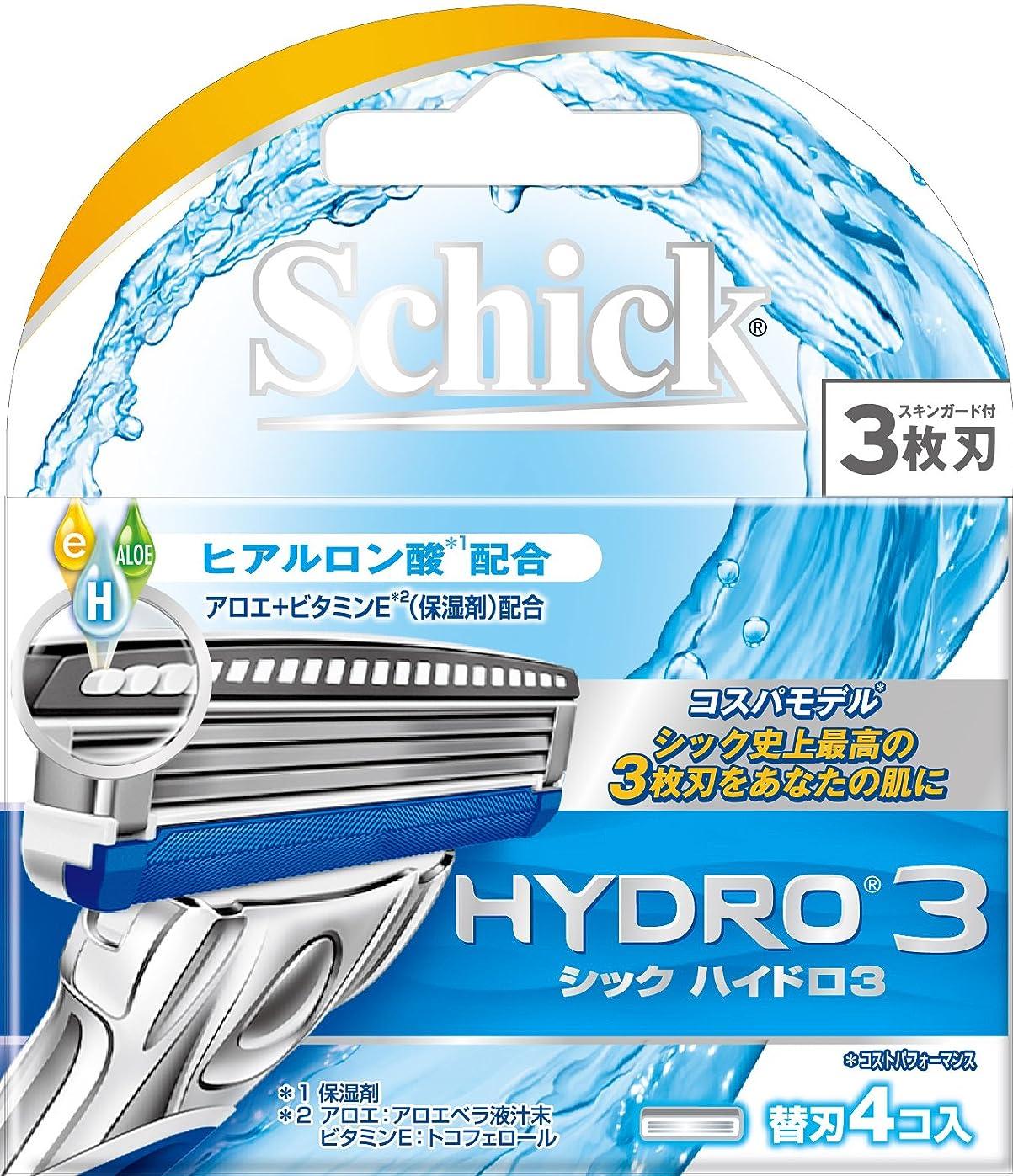 工業化する謝罪近似シック ハイドロ3 替刃(4コ入)