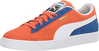 PUMA Men's Suede Classic Sneaker, Nasturtium White-surf The Web, 9 M US