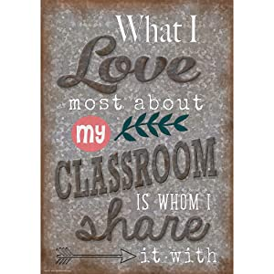 Teacher Created Resources Home Sweet Classroom What I Love Most About My Classroom Poster