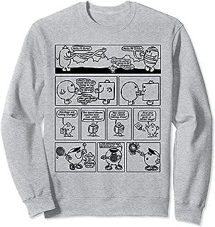 Mr. Men Retro Comic Book Strip 70s Black & White Sweatshirt