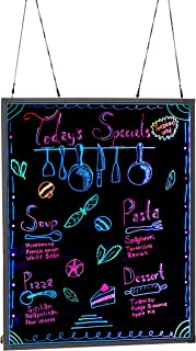 Alpine Industries LED Illuminated Hanging Message Writing Board (32