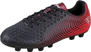Unisex-Kid's Stealth FG Black/White Size 10 Soccer Shoe