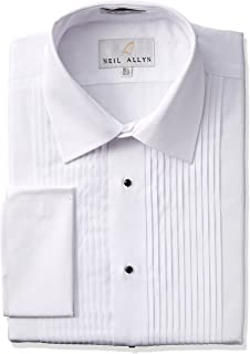 Tuxedo Shirt 100% Cotton with Laydown Collar and French Cuffs