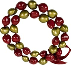 "Hawaiian Leis Necklaces Made with Real Kukui Nut Adjustable 32"" Lei for Luau Party, Graduation, Wedding and Birthday Party Beads Necklace for Men and Women"