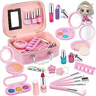 Clickwoo Maquillage Enfant Jouet Filles, Lavable Malette Maquillage Jouet pour Enfant, Coffret Maquillage Petites Filles M...