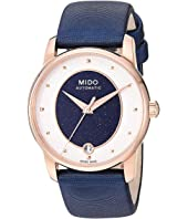 Mido - Baroncelli Wild Stone Rose PVD Case and Blue Fabric Strap - M0352073749100