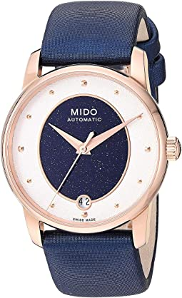 Baroncelli Wild Stone Rose PVD Case and Blue Fabric Strap - M0352073749100