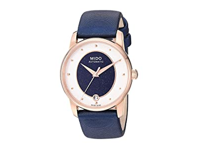 Mido Baroncelli Wild Stone Rose PVD Case and Blue Fabric Strap M0352073749100 (Blue) Watches