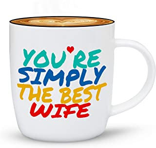 Gifffted Simply The Best Wife Ever Coffee Mug, Gift For Women, Greatest Wife Birthday Gifts Ideas From Husband, Funny Christmas Anniversary Presents For My Wife, Valentines Day Mugs, Cups, V1