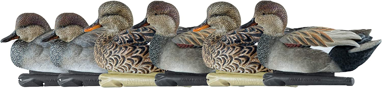 Very Max 82% OFF popular Avian-X Top Flight Gadwall Gray Duck Size 6 80 One Decoys Pack