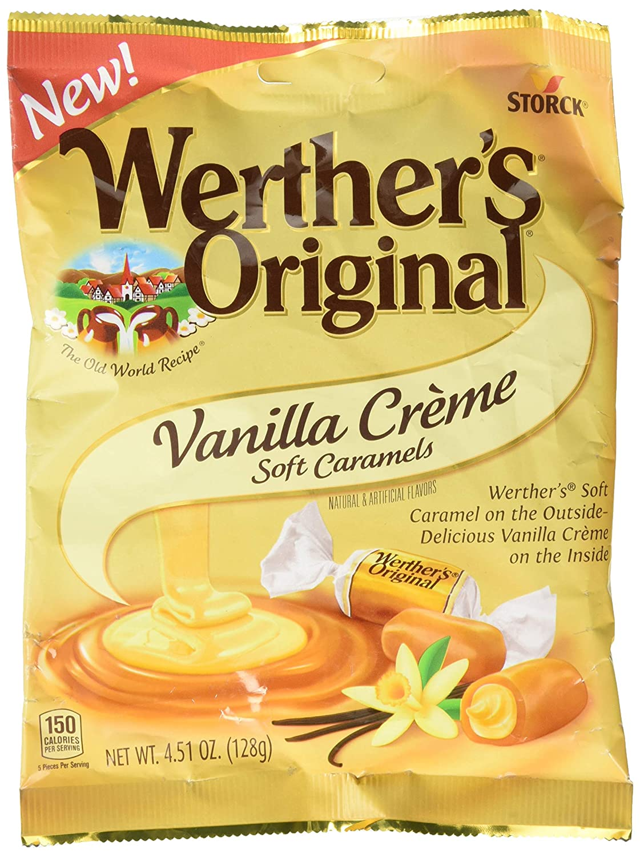 Werther's Original Soft Vanilla Crème Candy Caramel Max 53% OFF 4.51 Oz Chicago Mall