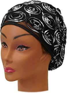 SSK Beautiful Metallic Turban-style Head Wrap