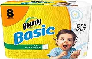 Bounty Basic Paper Towels, Prints, Regular Roll - 8 pk