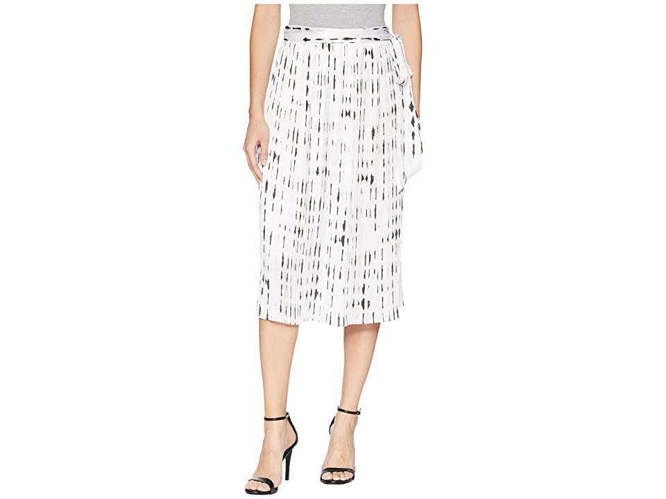 Kenneth Cole New York Pleated Skirt (Inkwell/White Combo) Women