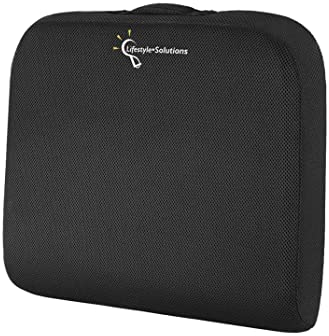 Lifestyle-Solutions Large Seat Cushion with Carry Handle and Anti Slip Bottom, Memory Foam Seat Cushion for Office Ch...