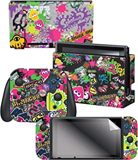 """Controller Gear Nintendo Switch Skin & Screen Protector Set, Officially Licensed by Nintendo - Splatoon 2 """"Stick Em' Up"""" -..."""