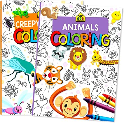 Amazon.com: School Zone Coloring Books For Kids Activities (Coloring Books):  Toys & Games