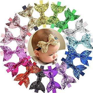 16 Pcs Baby Girls Headbands Big Glitter Sequins 4
