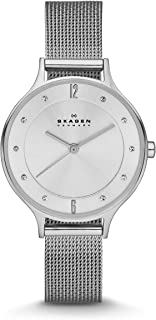 Skagen Women's Anita Quartz Analog Stainless Steel and Mesh Watch, Color: Silver (Model: SKW2149)