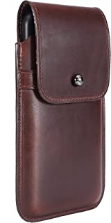 Limited Edition: Blacksmith-Labs Barrett Mezzano 2017 Premium Leather Swivel Belt Clip Holster for Apple iPhone 7 Plus for use with Apple Leather Case - Horween Chromexcel Havana Brown/Gunmetal
