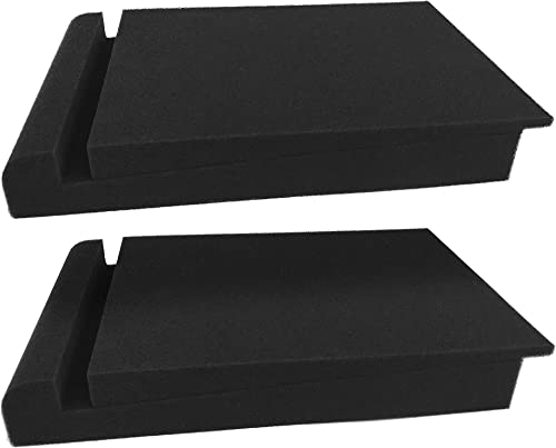 new arrival Blucoil Acoustic Isolation new arrival Pads - High-Density Foam for Sound outlet online sale Proofing Studio Monitors and Speakers (2-Pack) online