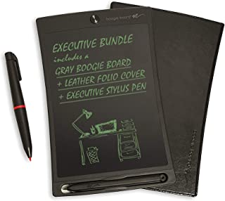 Boogie Board Jot 8.5 LCD Writing Tablet + Stylus Smart Paper for Drawing Note Taking eWriter (Gray Executive Bundle)