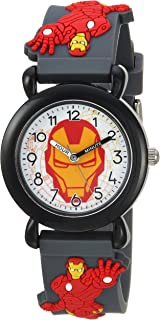 MARVEL Boys Avenger Analog-Quartz Watch with Plastic Strap, Grey, 17 (Model: WMA000156