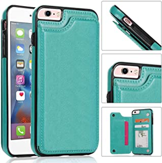 APrilday iPhone 6S/6 Wallet Case Slim Fit Premium PU Leather with Kickstand&Kickstand&ID&Credit Card Pockets (Green, iPhone 6)