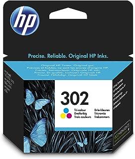 HP 302 F6U65AE Cartuccia Originale per Stampanti a Getto di Inchiostro, Compatibile con DeskJet 1110, 2130 e 3630, HP OfficeJet 3830 e 4650, HP ENVY 4520, Tricromia