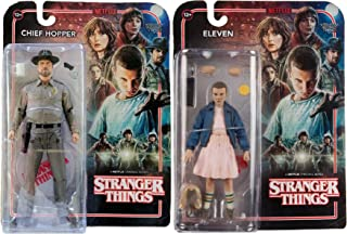 Stranger Things 7-Inch Eleven and Chief Hopper Action Figures Set