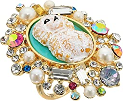 Betsey Johnson - Poodle Cameo Ring